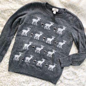 Loft embellished reindeer sweater